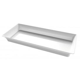 "Plastiktablett Präsentation ""Karo"" Transparent 5x13cm (24 Stück)"