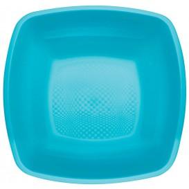 Plastikteller Tiefe Turkis Square PP 180mm (150 Stück)