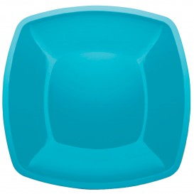 Plastikteller Flach Türkis Square PS 300mm (12 Stück)