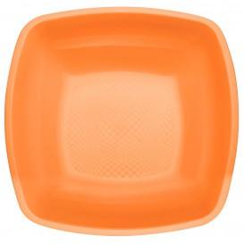 Plastikteller Tiefe Orange Square PP 180mm (150 Stück)
