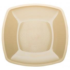 Plastikteller Flach Creme Square PP 180mm (150 Stück)