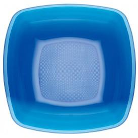 Plastikteller Tief  Blau Transp. Square PS 180mm (25 Stück)