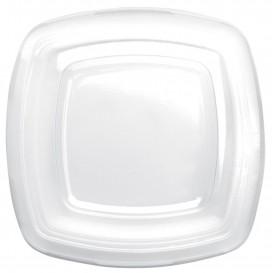 Plastikdeckel Transp für Teller Square PET 180mm (150 Stück)