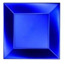 Plastikteller Flach Blau PP 290mm (12 Stück)