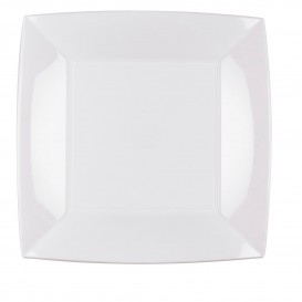 Plastikteller Flach Weiß Nice PP 230mm (150 Stück)