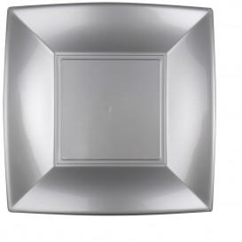 Plastikteller Flach Grau Nice PP 290mm (12 Stück)