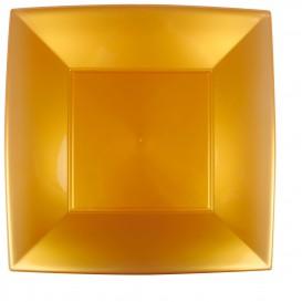 Plastikteller Flach Quadratisch Gold 290mm (72 Stück)