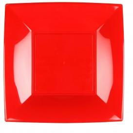 Plastikteller Flach Rot Nice PP 290mm (72 Stück)