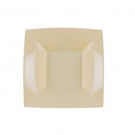Plastikteller Tiefe Creme Nice PP 180mm (25 Stück)