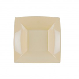 Plastikteller Tiefe Creme Nice PP 180mm (150 Stück)