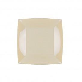 Plastikteller Flach Creme Nice PP 180mm (25 Stück)