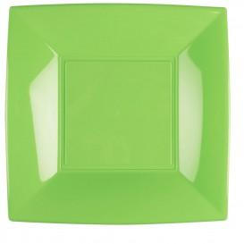 Plastikteller Flach Grasgrün Nice PP 290mm (12 Stück)
