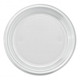 Plastikteller PS Flach Transparent Ø220mm (30 Stück)
