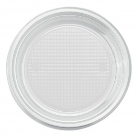 Plastikteller PS Tief Transparent Ø220mm (30 Stück)