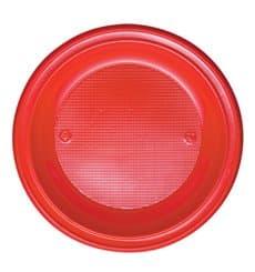 Plastikteller PS flach Rot Ø280mm (140 Stück)