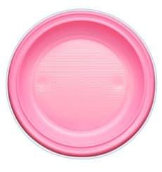 Plastikteller PS Flach Pink Ø220mm (30 Stück)