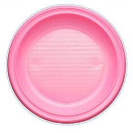 Plastikteller PS Flach Pink Ø220mm (780 Stück)