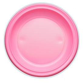 Plastikteller PS Tief Pink Ø220mm (30 Stück)