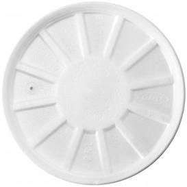 Styropordeckel Gelüftet Weiß Ø11,7cm (50 Stück)