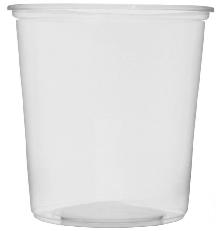 Verpackungsbecher aus Plastik 500ml Ø10,5cm (50 Stück)