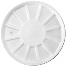 Styropordeckel Gelüftet Weiß Ø11cm (50 Stück)