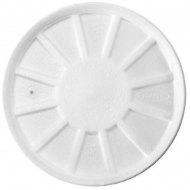 Styropordeckel Gelüftet Weiß Ø11cm (500 Stück)