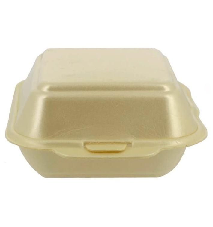 Kleine Burger-Box Styropor Champagner