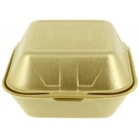 Burger-Box groß Styropor gold (125 Stück)