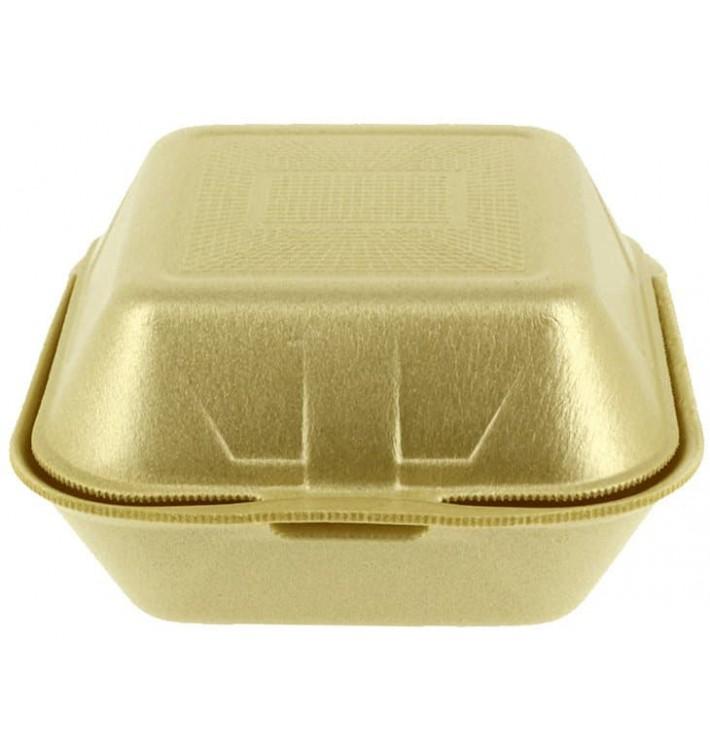 Burger-Box groß Styropor gold