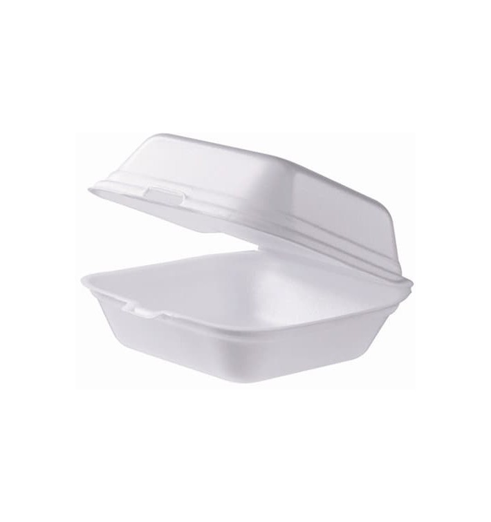 Kleine Burger-Box Styropor weiß (125 Stück)