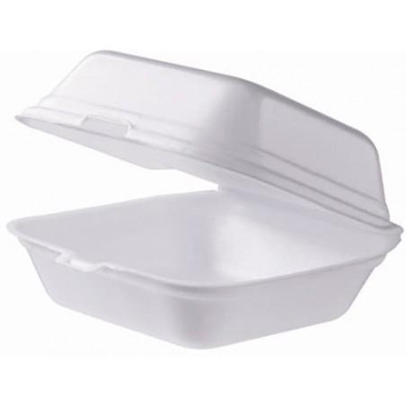 Burger-Box groß Styropor weiß (125 Stück)