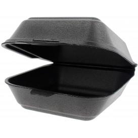 Groß Burger-Box Styropor Schwarz (125 Stück)