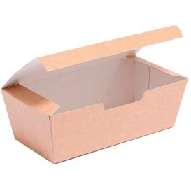 SnackBox mit Deckel To Go Kraft 16,5x7,5x6cm (600 Stück)