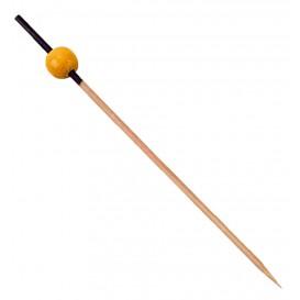 Bambusspieße Schwarz und Gelb 120mm (200 Stück)