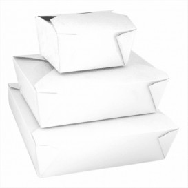 SnackBox Amerikane To Go Weiß 217x217x60mm (140 Stück)