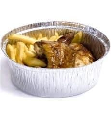 Aluschalen rund für Hähnchen 1.400ml (125 Stück)