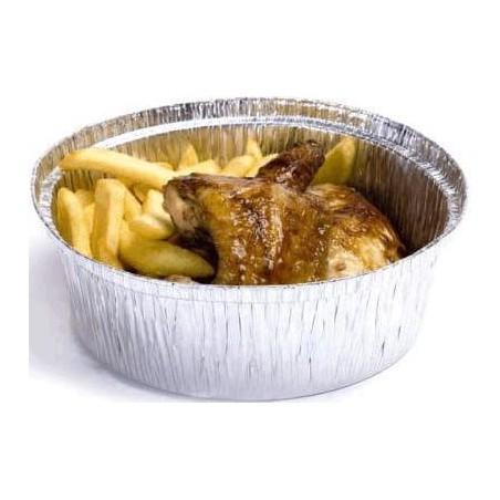 Aluschalen rund für Hähnchen 1.900ml (500 Stück)