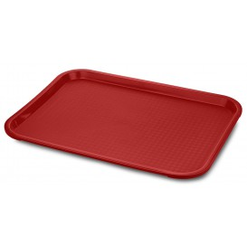 Plastikplatte rechteckig extra-Stark Rot 27,5x35.5cm (24 Stück)