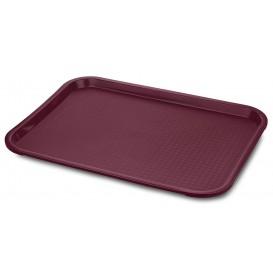 Plastikplatte rechteckig extra-Stark Bordeaux 27,5x35.5cm (24 Stück)