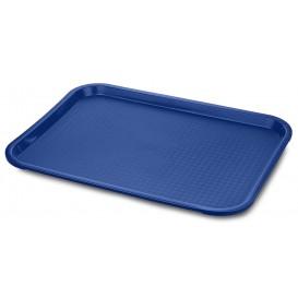 Plastikplatte rechteckig extra-Stark Blau 30,4x41,4cm (1 Stück)
