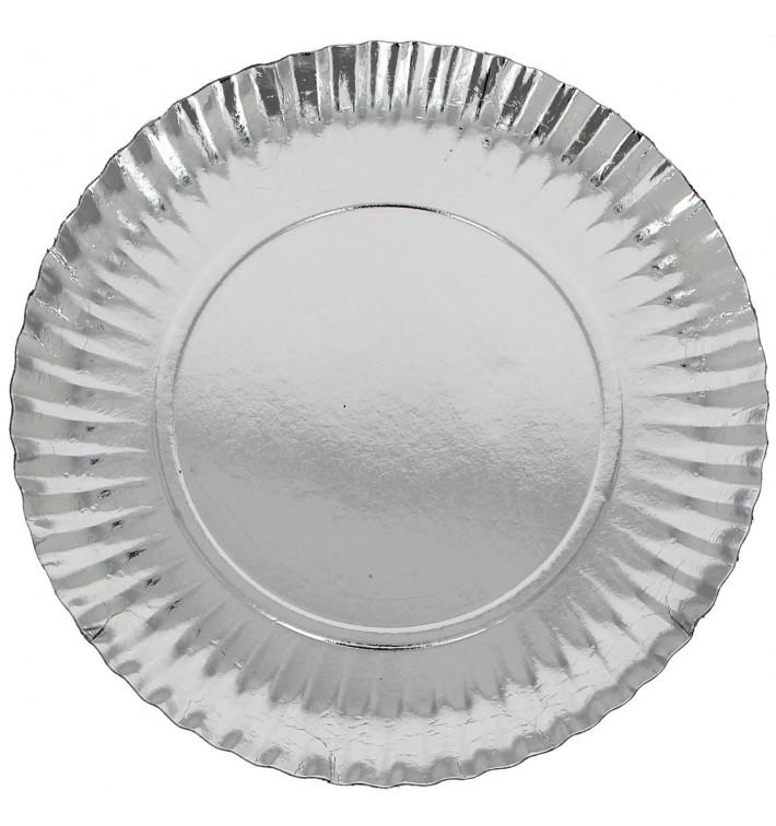Pappteller Rund Silber 230mm (300 Stück)