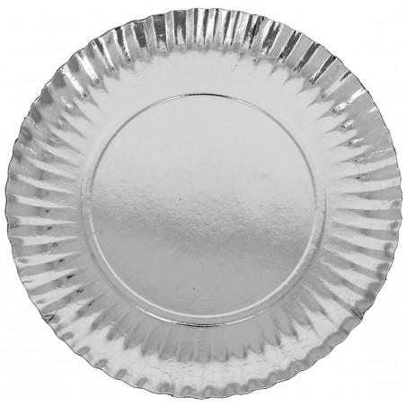 Pappteller Rund Silber 230 mm (500 Stück)