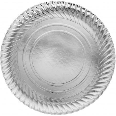 Pappteller Rund Silber 300 mm (100 Stück)