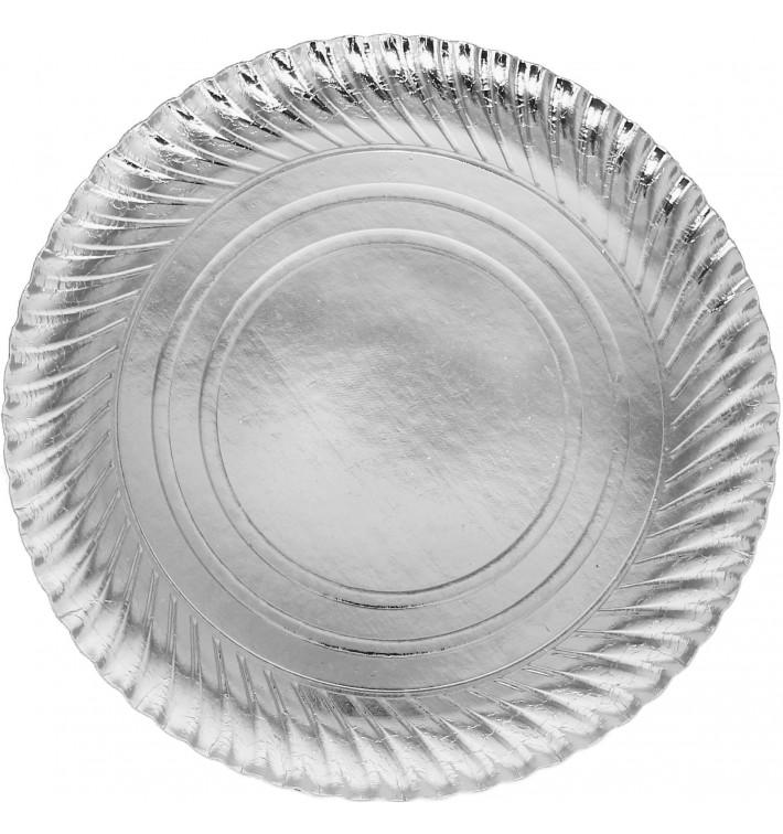 Pappteller Rund Silber 300 mm (400 Stück)