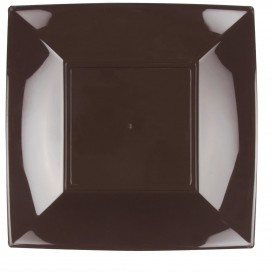 Plastikteller Flach Quadratisch Silber 290mm (72 Stück)