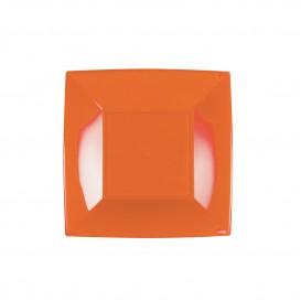 Plastikteller Flach Orange Nice PP 180mm (300 Stück)