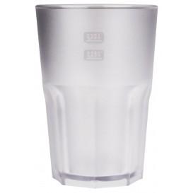Plastikbecher Frost Transparent SAN 400ml (75 Stück)