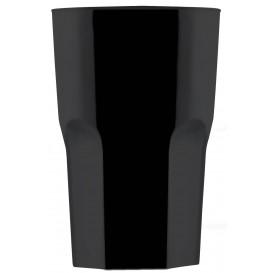 Plastikbecher Schwarz SAN Ø85mm 400ml (5 Stück)