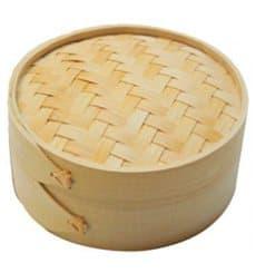 Bambusdämpfer mit Deckel Ø8x6cm (200 Stück)