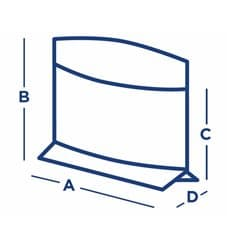 Beutel fettdicht Kraft 21x17/11x3cm (100 Stück)